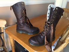 Dr Martens 1914 brown triumph faux shearling boots UK 6 EU 39 punk goth biker | eBay