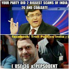Rahul Gandhi Funny Image with Arnab Goswami
