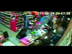 Knife-wielding robber foiled by shopkeeper