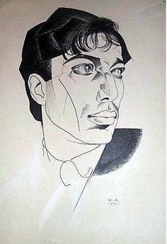 Portrait of poet Boris Pasternak - Jury Annenkov