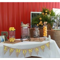 My Granddaughters Cool lemonade stand at her wedding reception