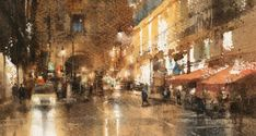 Watercolor workshop by Chien Chung-Wei at Ichen Art Academy Watercolor Painting Techniques, Watercolour Painting, Watercolours, Watercolor Landscape, Landscape Paintings, Art Academy, Painting Gallery, Art Pictures, Art Pics