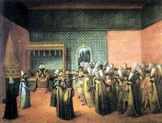 The Reception of French Ambassador Vicomte d'Andrezel to Ottoman Sultan Ahmed III (17 October)