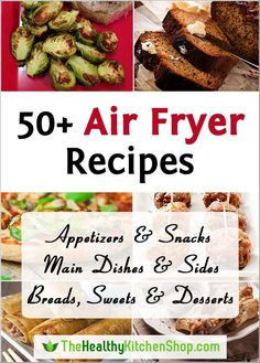 "50+ Air Fryer Recipes at http://thehealthykitchenshop.com - And if you don't yet have an air fryer, we've done the research for you! Visit our site to read detailed reviews of the best selling models, or see them all on our Air Fryer Comparison Chart. Happy healthier ""frying""!"
