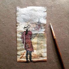 363 Days of Tea des dessins sur des sachets de thé Dessein de dessin