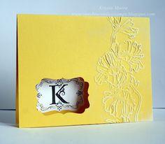 Sunshine, Smiles & Stamps= Lovin' Life: Monograms using Stampin Up Lovely Letters