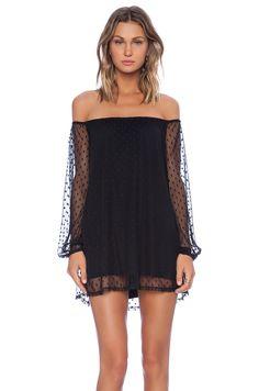 For Love & Lemons Precioso Dress in Black Dot | REVOLVE