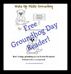 Free Printable Emergent Reader Wake Up Little Groundhog | Enchanted Homeschooling Mom