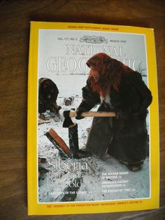National Geographic Vol. 177, No. 3 March 1990 Siberia in from the Cold - for sale at Wenzel Thrifty Nickel ecrater store