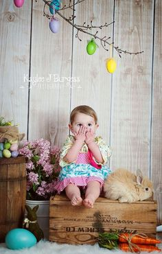 Easter mini sessions with live bunnies