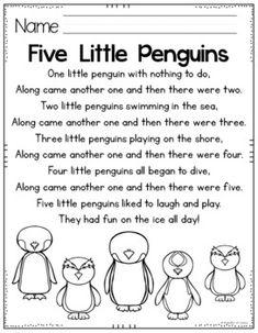 Penguins Pocket Chart