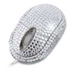 Un ratón para los más glamourosos, un ratón con muchos diamantes.