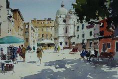 Yardley John (b. 1933, UK)  watercolour. 38 x 55 cm.
