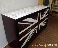 Subway Art British Dresser shared by 4 the Love of Wood