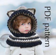 CROCHET PATTERN   Fox Hooded Cowl For babytoddler by WOOLLENcloud