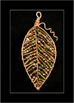 Copper Leaf Pendant by Kat Clark - Like like major like, I have the perfect bead soup for this!