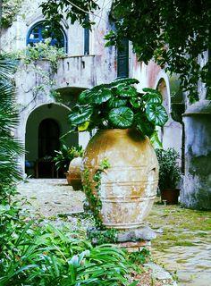 Capri courtyard, province of Naples, campania region itly