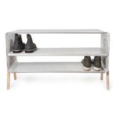 The tica copenhagen - Standing Shoe Rack in grey, 88 x 50 cm