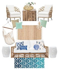 """Untitled #12"" by drpalmer on Polyvore featuring Serena & Lily, Palecek, Michael Aram, Peking Handicraft, Safavieh, Home Decorators Collection, anu, PBteen and Echo Design"