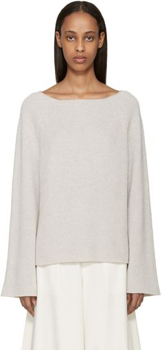 Helmut Lang - Grey Cashmere Knit Sweater
