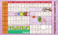 Teatro al Parque 2015  Programación general