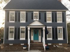 Sherwin williams sw 6251 outerspace is a great accent - Sherwin williams outerspace exterior ...