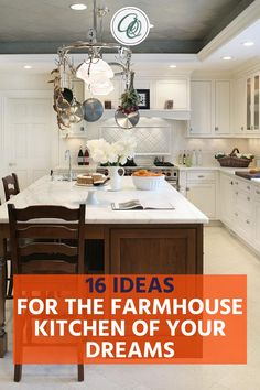 Read Annie and Oak's 16 Ideas for the Farmhouse Kitchen of Your Dreams post to discover top farmhouse kitchen hacks. Are you planning to give your farmhouse kitchen a cozy and inviting vibe? We hear you! So don't settle for a typical farmhouse kitchen layout and do some magic. Annie and Oak is the real expert in farmhouse kitchens. Here are some tips and inspiration that will surely level up your farmhouse kitchen experience. Get the best farmhouse kitchen ideas and more at anniandoak.com. Vintage Farmhouse Sink, Fireclay Farmhouse Sink, Copper Farmhouse Sinks, Farmhouse Sink Kitchen, Modern Farmhouse Kitchens, Rustic Farmhouse, Retro Kitchen Appliances, Kitchen Countertops, Best Kitchen Faucets