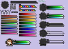 My Health and Magic Bars by ArianatheEchidna on DeviantArt Game Ui Design, Web Design, Health Bar, Magic Bars, Lottery Winner, Pixel Games, Bar Games, Game Dev, User Interface Design