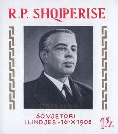 #1190 Albania - 60th Birthday of Enver Hoxha, Imperf S/S (MNH)