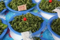Suva Market  Harris Road, Suva, Fiji     Fijian caviar -A seasonal delicacy, nama is best likened to seaweed caviar. The texture of the tiny brine-filled pearls is similar to salmon roe, clustered along a seaweed stalk. Eaten with sugar and chili.