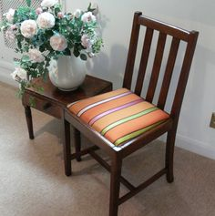 How to recover an upholstered dining chair seat pad | MIAMI