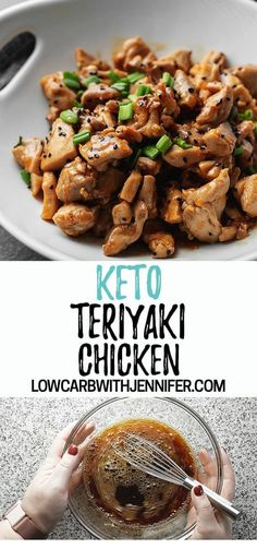 Keto Teriyaki Chicken Another easy low carb dinner that can be made in under 30 minutes! This keto teriyaki chicken is full of flavor, will cure that keto Chinese food craving, and perfect served with cauliflower fried rice. Ketogenic Diet Meal Plan, Ketogenic Diet For Beginners, Diet Plan Menu, Keto Diet For Beginners, Keto Meal Plan, Diet Meal Plans, Ketogenic Recipes, Healthy Recipes, Food Plan