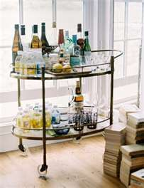MAD MEN : Don Drapers Liquor cart - NEED TO FIND A CART LIKE THIS!