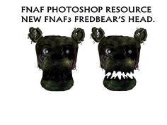 FNAF Photoshop Resource: New FNAF3 Fredbear's Head by mangoood