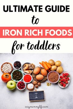 A list of iron rich foods for toddlers and kids. Includes iron ric​​h sources for vegetarian​ and vegans, with quick iron ri​c​h food recipes and ideas to prevent childhood anemia. Healthy Sweet Snacks, Healthy Kids, Protein Snacks, Healthy Breakfasts, High Protein, Clean Eating Snacks, Healthy Eating, Healthy Food, Vegetarian Food