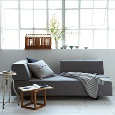 A multi-functional sofa - it can translate in to a guest bed, a chaise or just a regular sofa. Great if you have house guests!