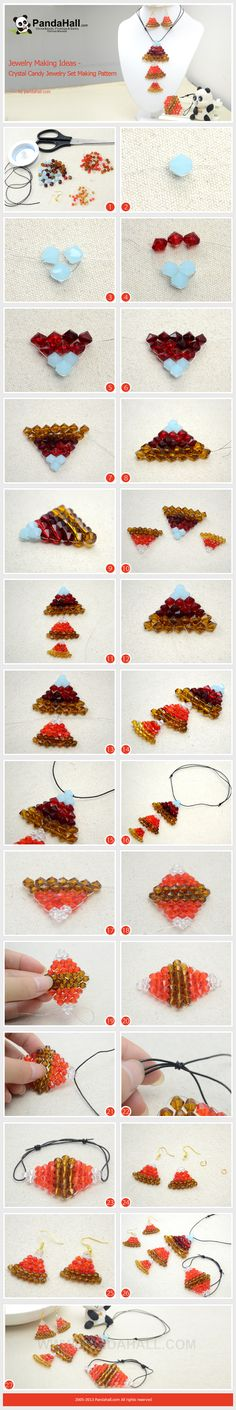 Jewelry Making Ideas - Crystal Candy Jewelry Set Making Pattern