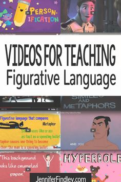 Videos for Teaching and Reviewing Figurative Language Like Or As, Figurative Language, The Man, Teaching, Education, Videos, Learning, Educational Illustrations, Onderwijs