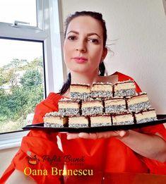 Prajitura Tosca cu mac, crema de vanilie, biscuiti si ciocolata Mac, Sweets, Gummi Candy, Candy, Goodies, Poppy, Treats, Deserts
