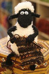 Shaun the Sheep Mobile pattern by Alan Dart