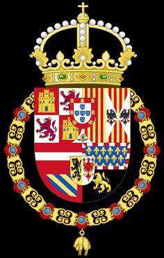 Escudo de Armas del Rey de España de 1580 a 1668 de Felipe II . Felipe III Felipe IV y Carlos II