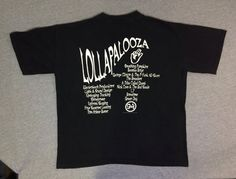 LOLLAPALOOZA Shirt 1994 LOCAL CREW Vintage/ Smashing Pumpkins Beastie Boys Breeders Tribe Called Quest Green Day/ Tour Tshirt UsA X-Large