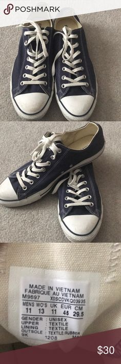 Converse shoes Blue converse-11 for men and 13 for women. Great pair of shoes only worn once Converse Shoes Sneakers