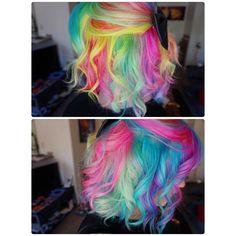 Love. Sandart. rainbow hair