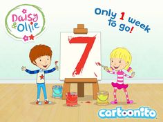 Only 1 week to go until #DaisyandOllieUK starts on Cartoonito! Tune in 1st November at 4pm! #DaisyandOllieCountdown