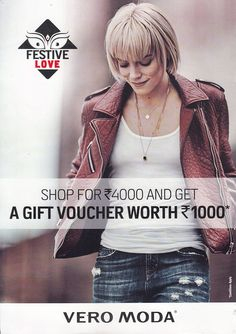 Get your festive game on with special Pujo offer. Shop for INR 4000 and get a voucher worth INR 1000 at #VeroModa #ForumCourtyard store now.