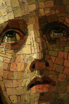 Mosaic of a Saint in grief at St. Stone Mosaic, Mosaic Art, Mosaic Glass, Mosaic Tiles, Glass Art, Stained Glass, Mosaic Portrait, Mosaic Flowers, Byzantine Art