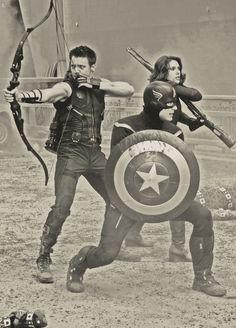 Hawkeye, Captain America, and Black Widow