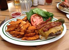 Burgers at Darrell's in Halifax, Nova Scotia. The luv of Scotian food...Mmm mmm good