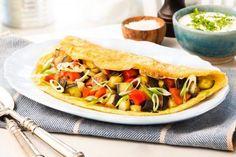 Omelett med grillede grønnsaker Nom Nom, Tacos, Food Porn, Mexican, Ethnic Recipes, Omelet, Mexicans, Treats
